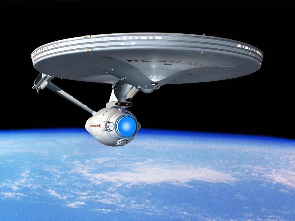 Star Trek desktop wallpaper number 5   the USS Enterprise NCC 1701 A 1024x768