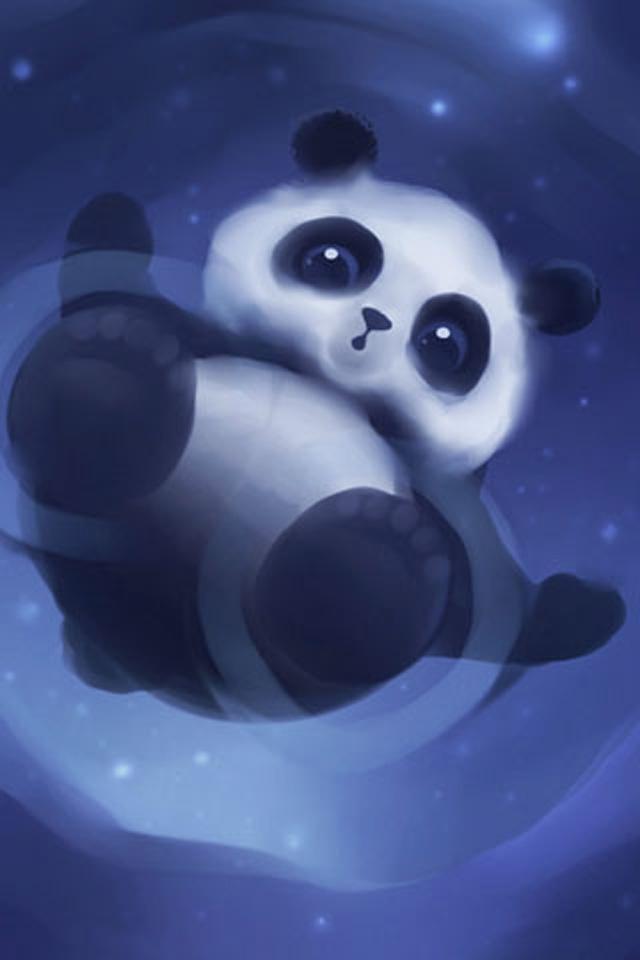 Floating Panda iPhone Wallpaper HD 640x960