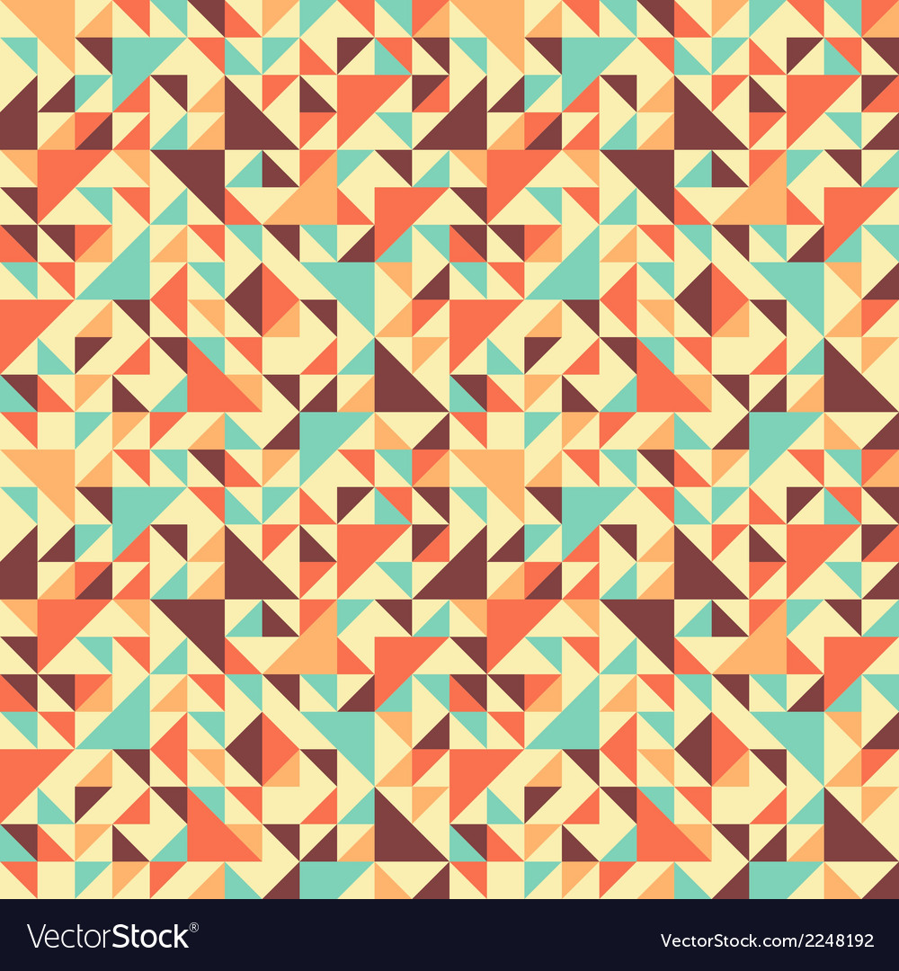 Seamless triangle background motley Royalty Vector 1000x1080