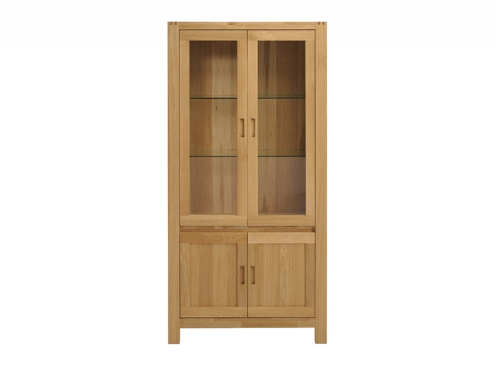 Ethan Oak 4 Door Glass Display Cabinet Display Cabinets from FADS 1000x750