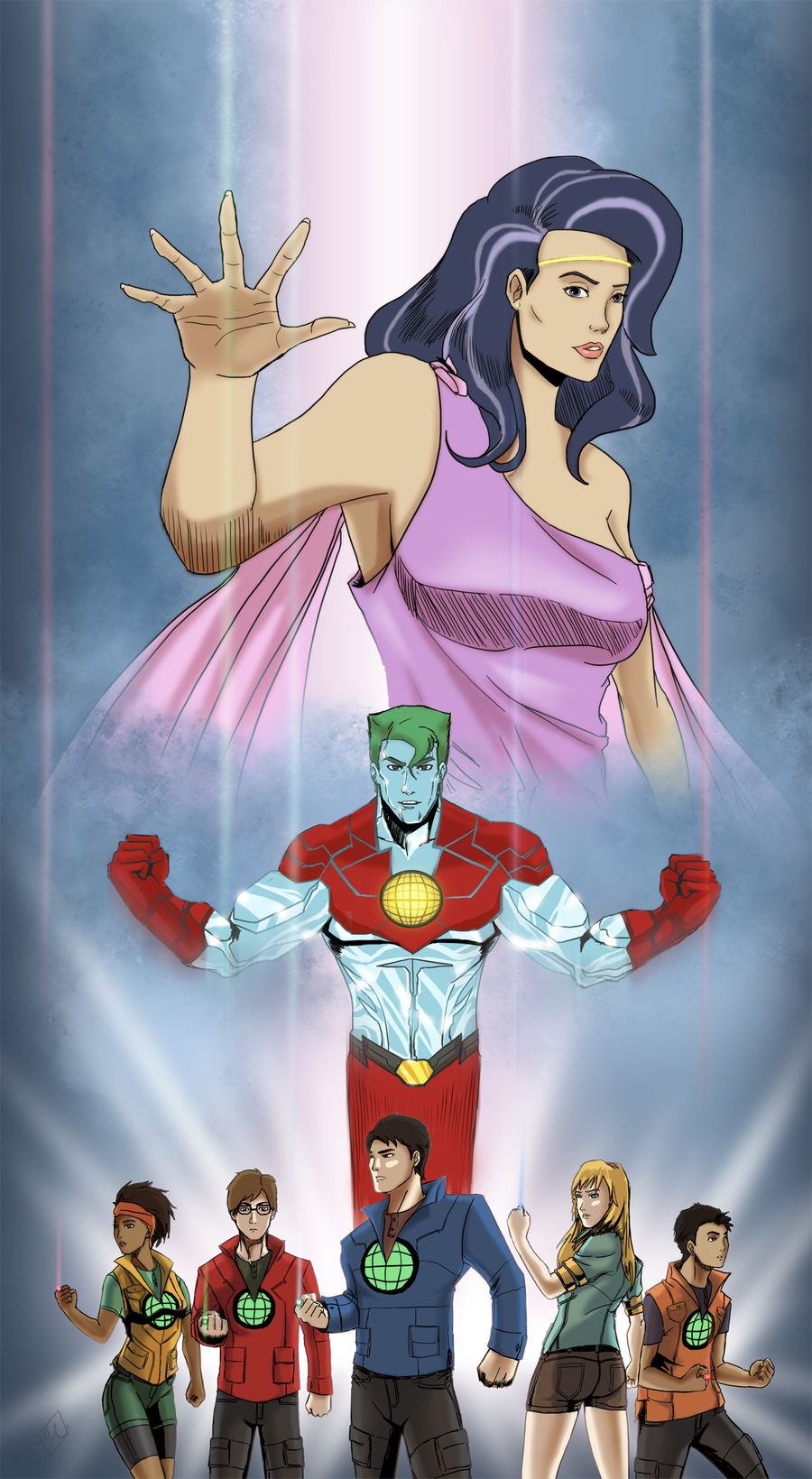Captain Planet and the Planeteers by Draa001deviantartcom on 900x1639
