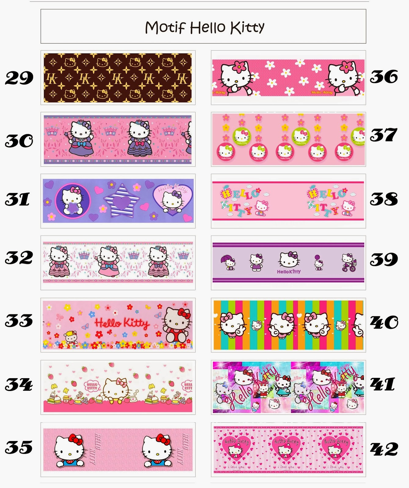 Free Wallpaper Border Dinding Motif Hello Kitty Dan