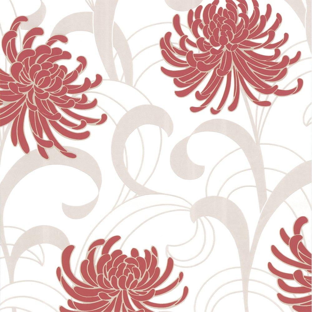 Home Wallpaper Crown Crown Snow Kite Wallpaper Beige Red 1000x1000