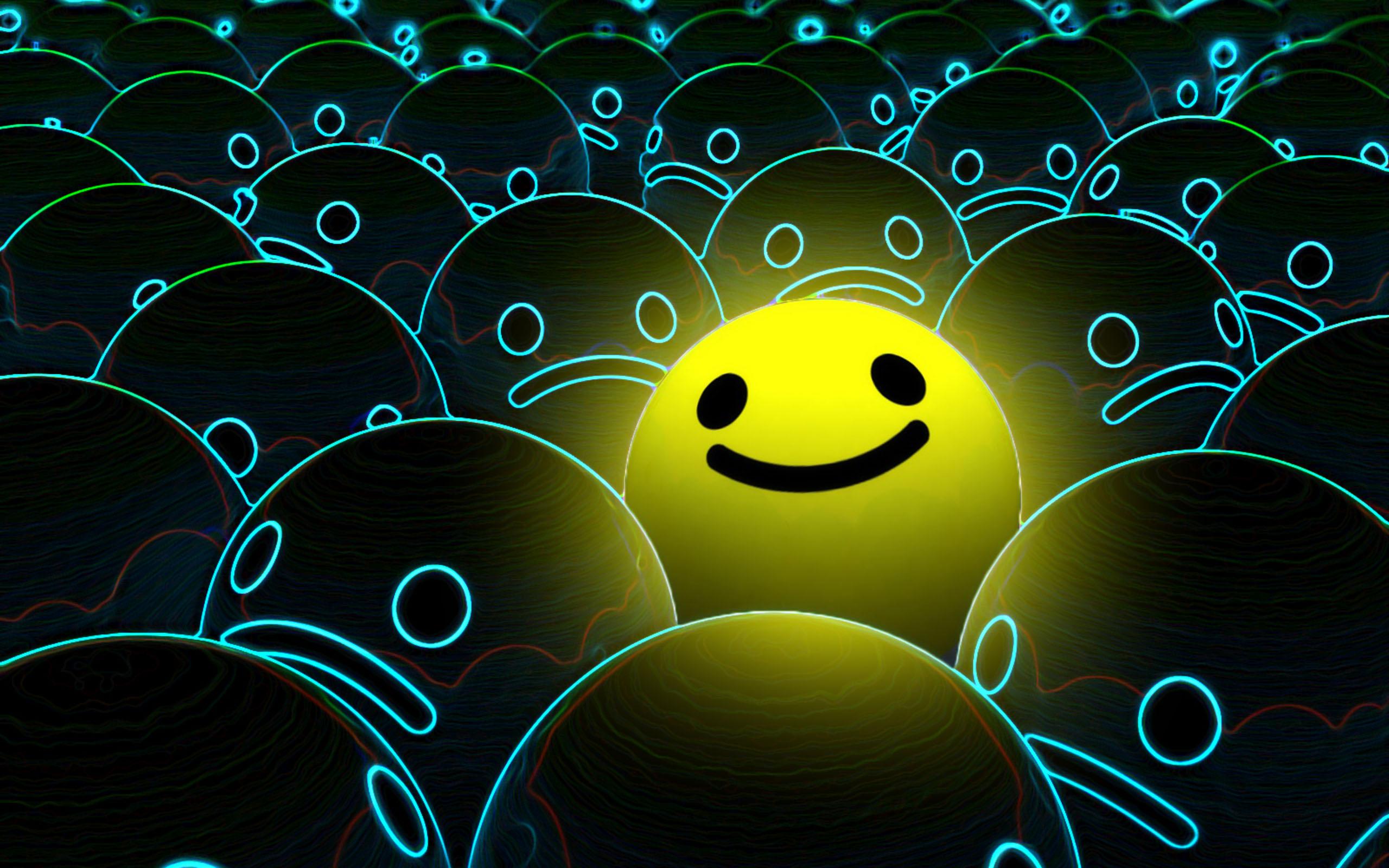 Pics Photos   Smiley Face Yellow Wallpaper 2560x1600