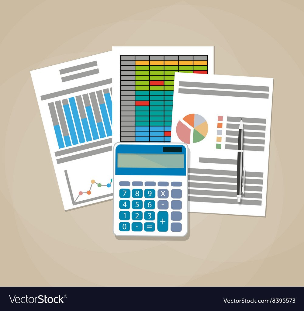 Spreadsheet concept Business background Royalty Vector 1000x1023