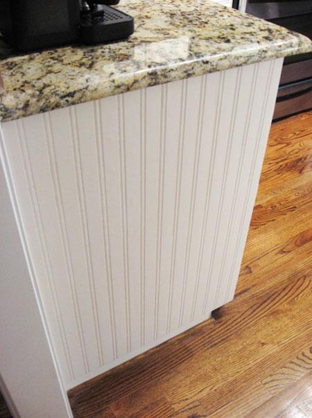 With beadboard wallpaper Beadboard Wallpaper Cabinet Project Tutorial 450x603