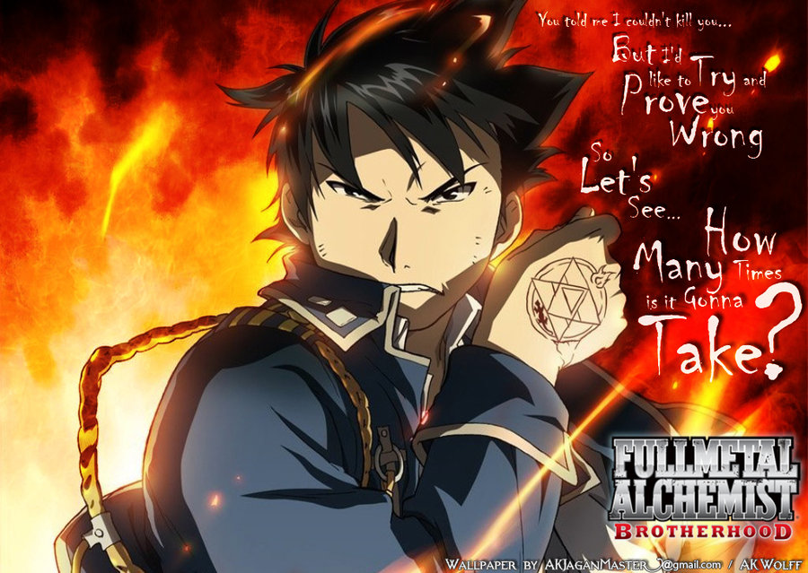 Anime Quotes About Happiness: Roy Mustang Wallpaper