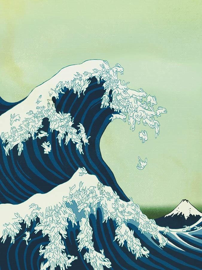 Japanese Wave Art Wallpaper Images & Pictures - Becuo