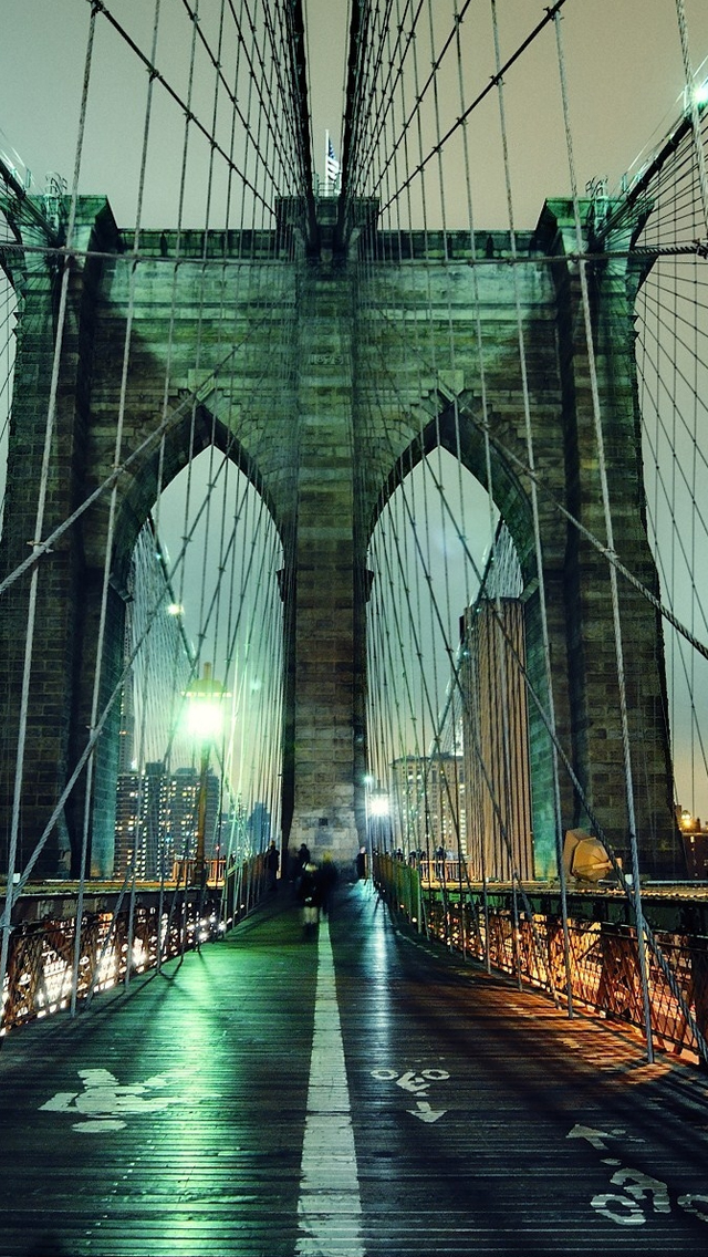 Brooklyn Bridge iPhone 5s Wallpaper Download iPhone Wallpapers iPad 640x1136