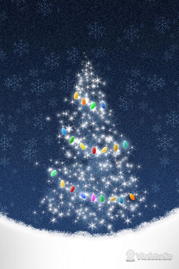49 Christmas Tree Phone Wallpaper On Wallpapersafari