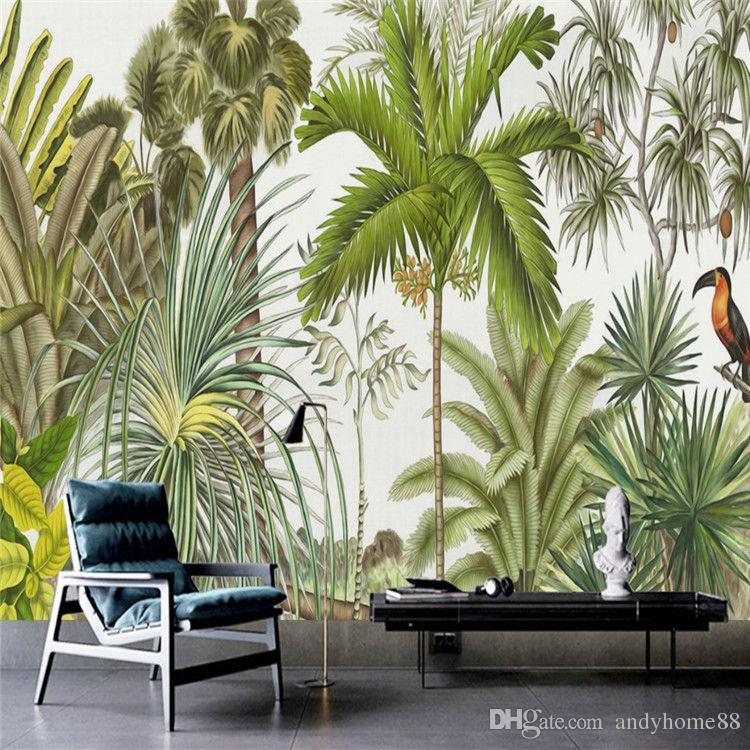 Retro Tropical Rain Forest Wallpaper Southeast Asia Plant Dead 750x750