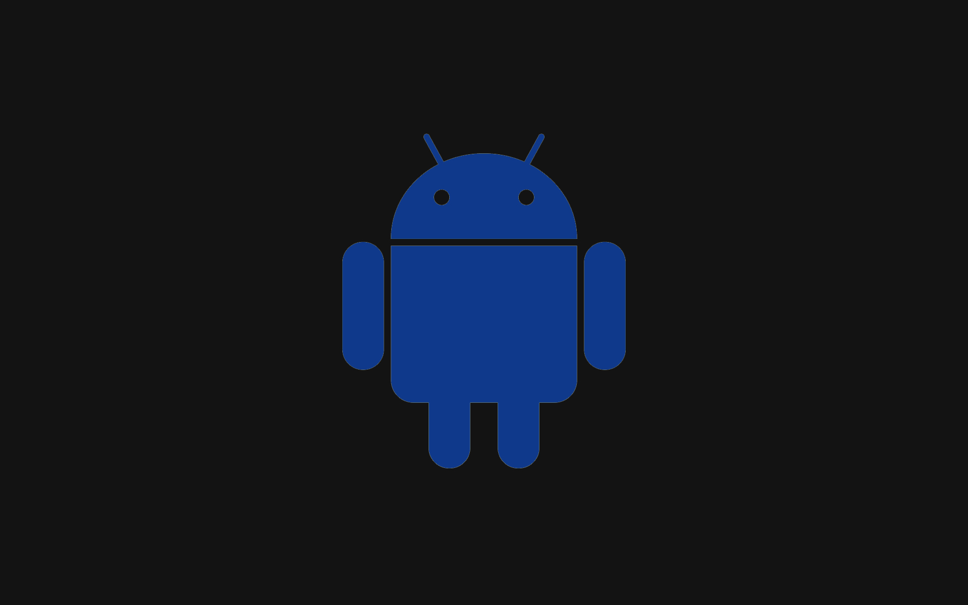 Blue Android And Black Background Wallpaper De 6581 1920x1200