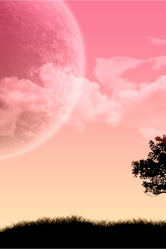 Pink sky scenery iPhone 4s Wallpaper Download iPhone Wallpapers 640x960