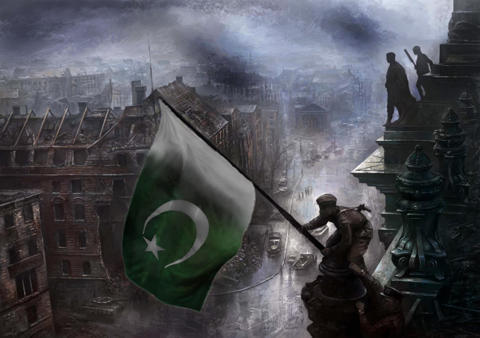GRAAFIXBLOGSPOTCOM Graphics Wallpapers flag of Pakistan 1600x1126