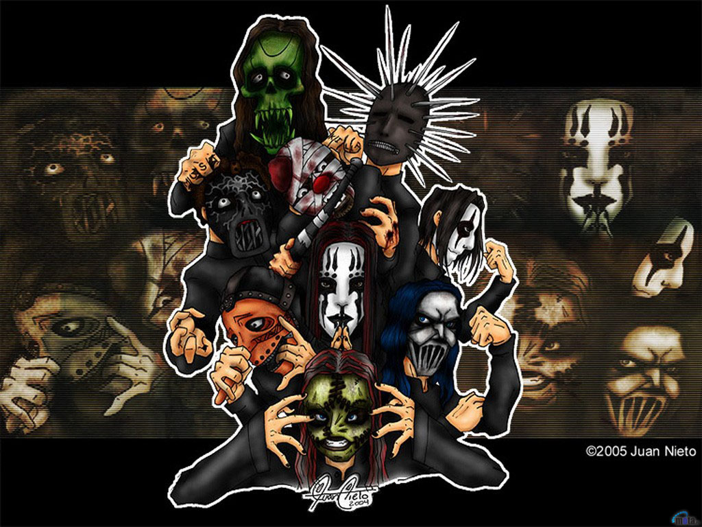 Download wallpaper Slipknot 1024x768