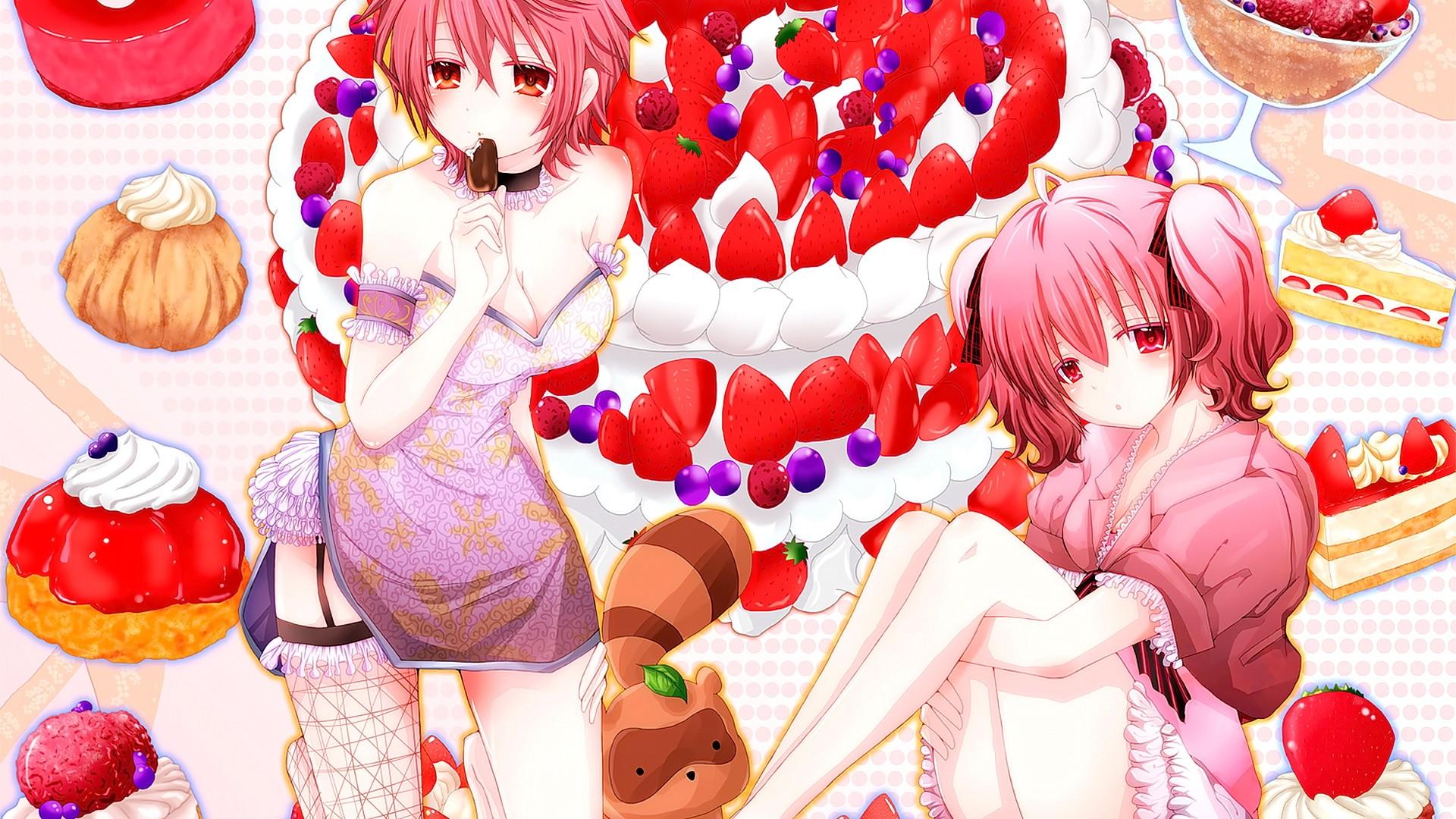 Wallpaper illustration anime girls short hair looking at 1920x1080