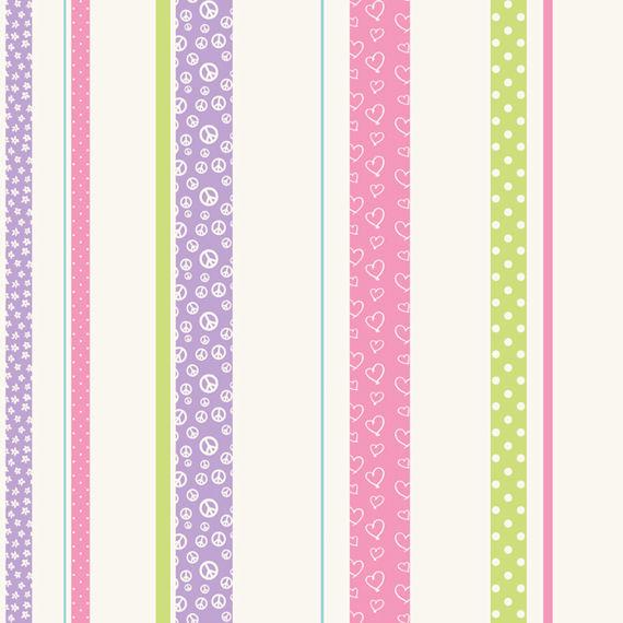 Patterned Stripe Lavender Wallpaper   Wall Sticker Outlet 570x570