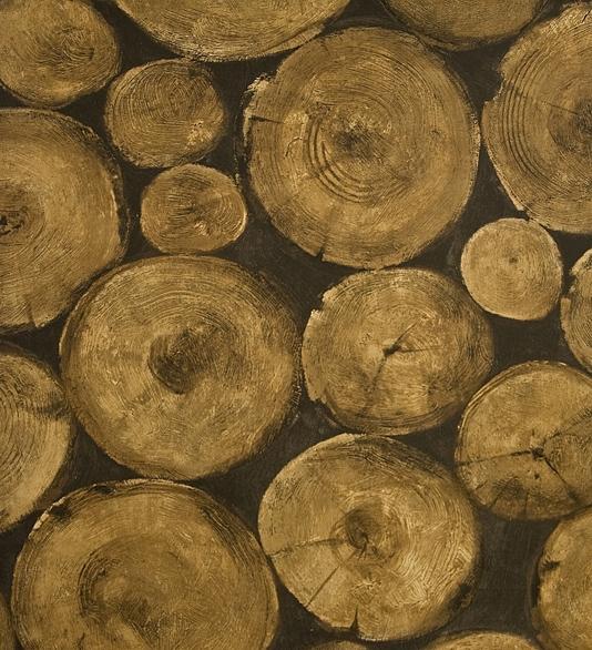 Lumberjack Wallpaper Chopped Timber log pile effect wallpaper 534x586