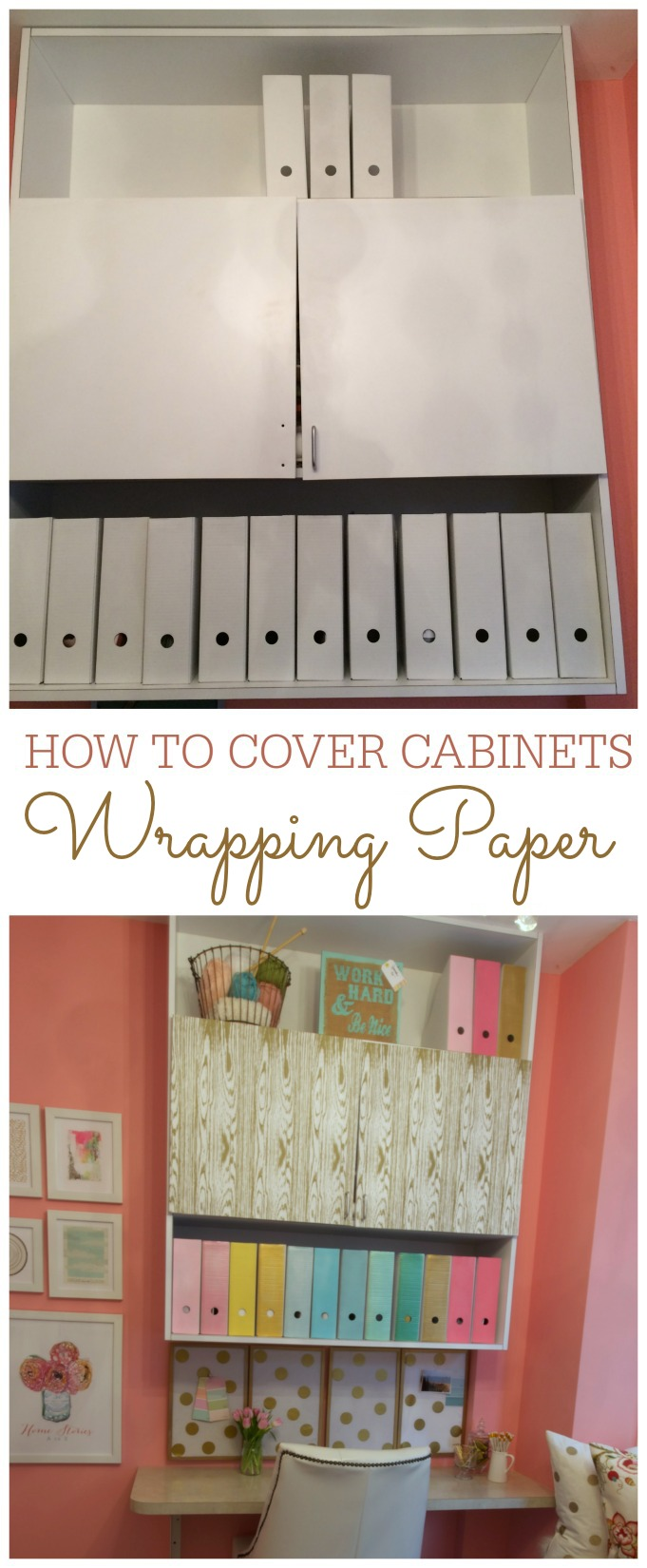 How to Cover Cabinets with DIY Removable Wallpaper   Home Stories A to 681x1650