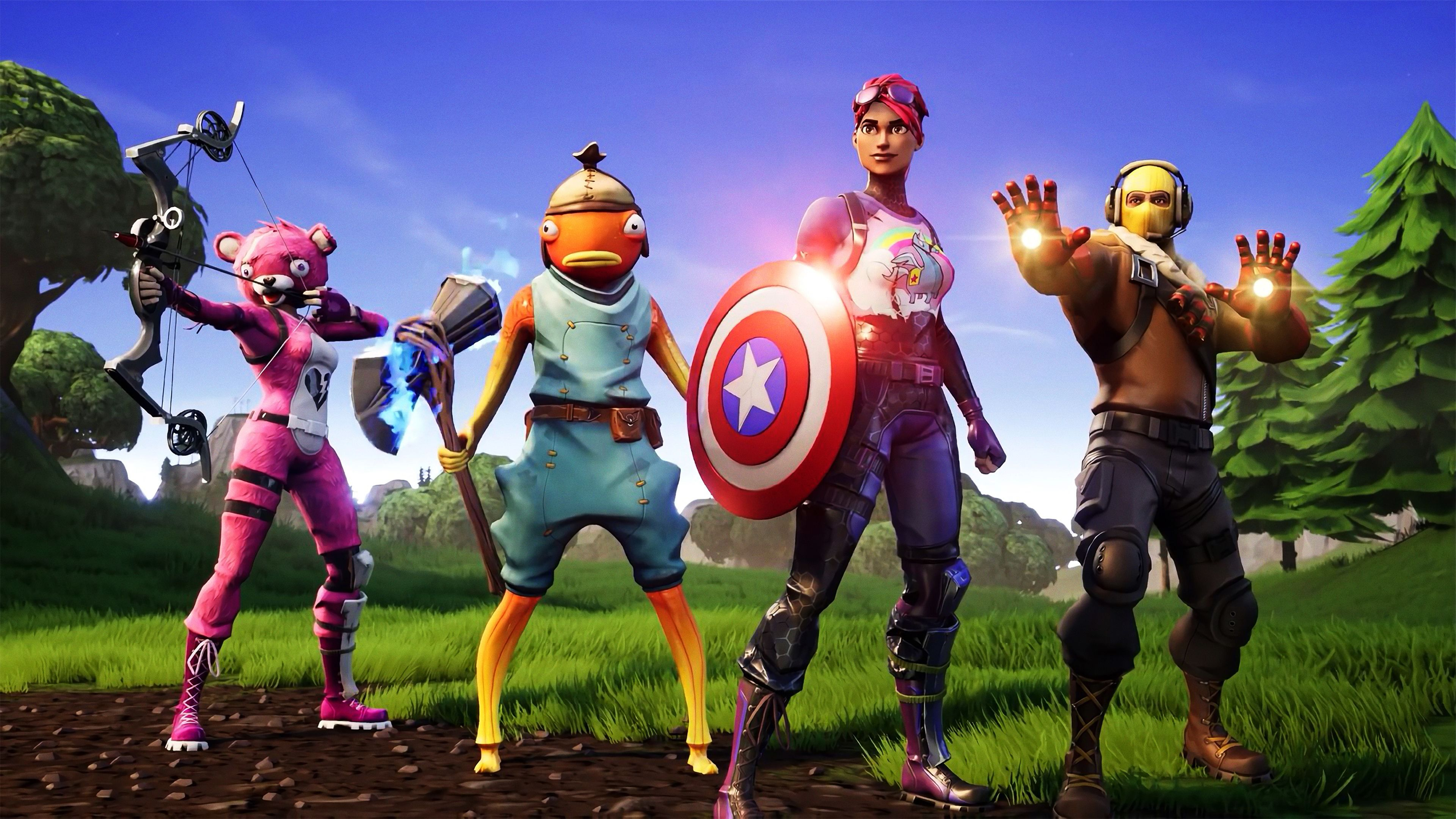 Avengers Fortnite X superheroes wallpapers hd wallpapers 3840x2160