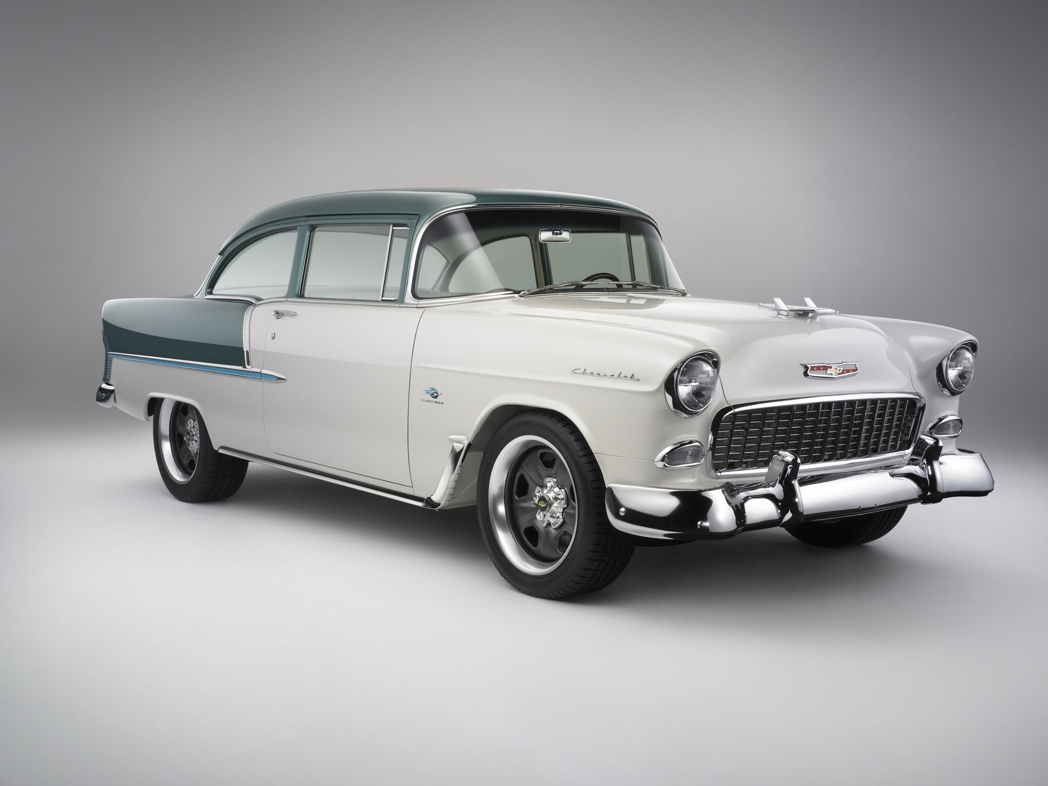 1955 Chevrolet Bel Air coupe retro muscle hot rod rods wallpaper 2048x1536