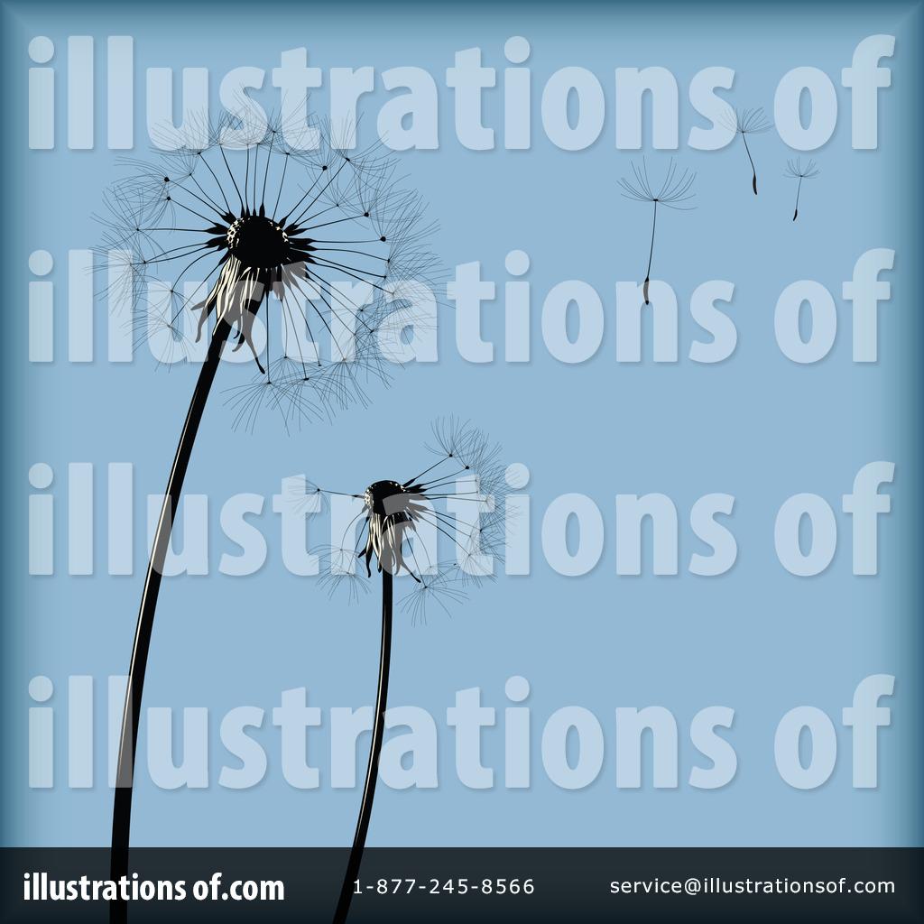 Royalty  RF Dandelion Clipart Illustration 81703 by Anja Kaiser 1024x1024