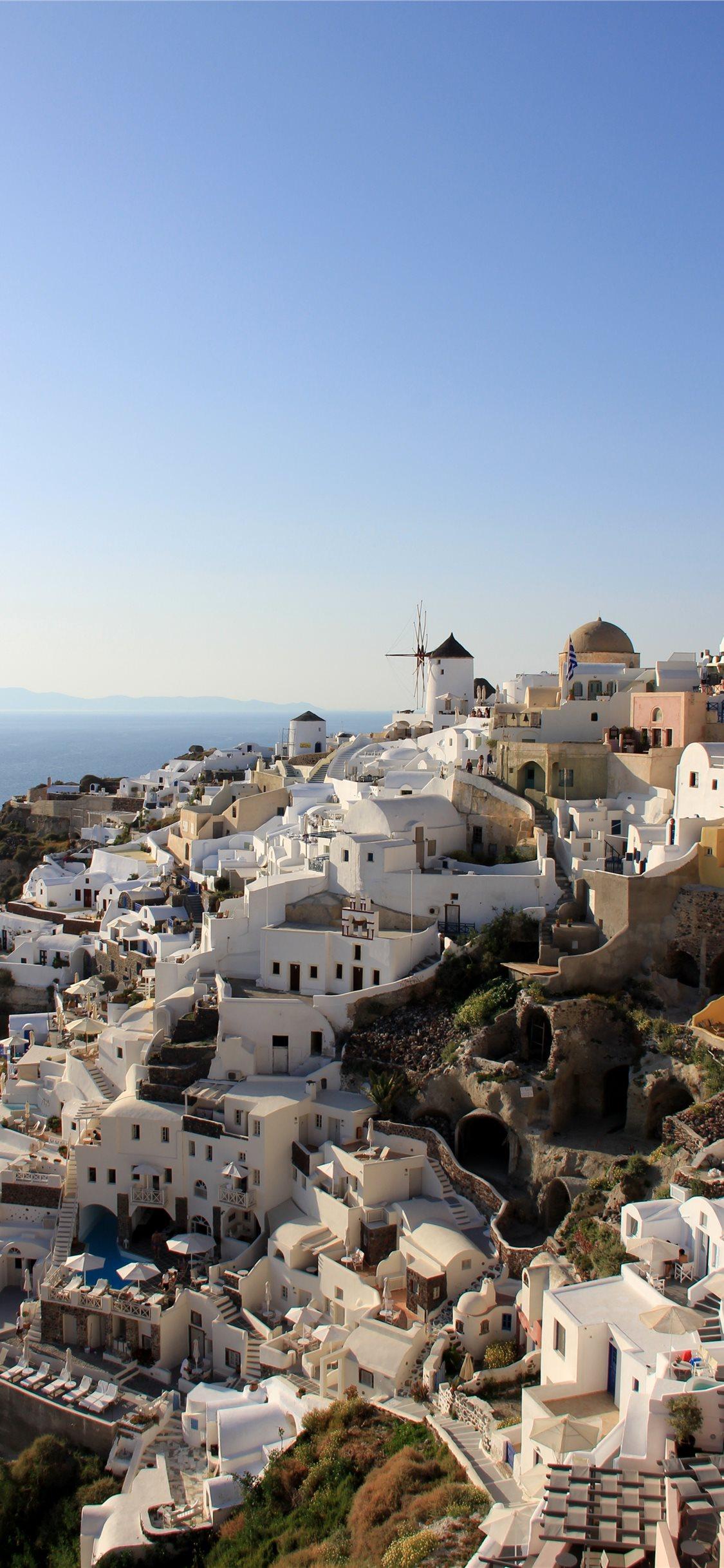 Calm at Santorini iPhone X Wallpapers Download 1125x2436