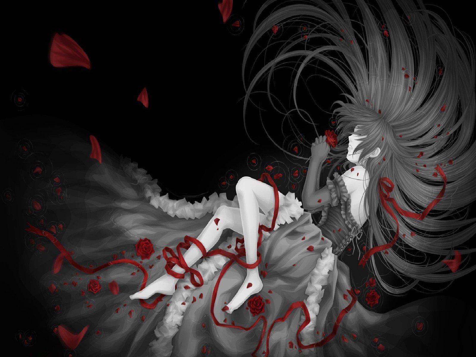 Cool dark anime wallpapers wallpapersafari - Dark anime girl pics ...