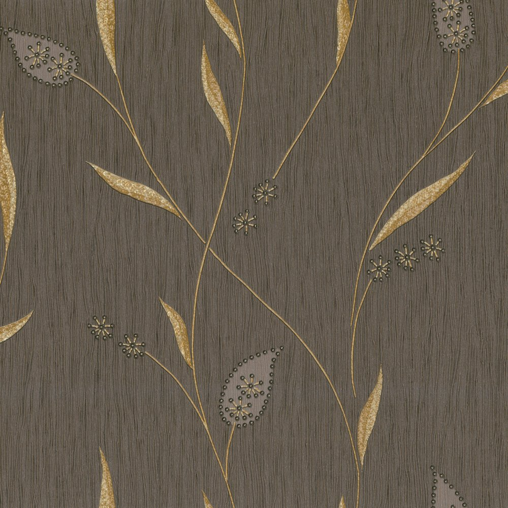 Brown and gold wallpaper wallpapersafari for Gold wallpaper for walls