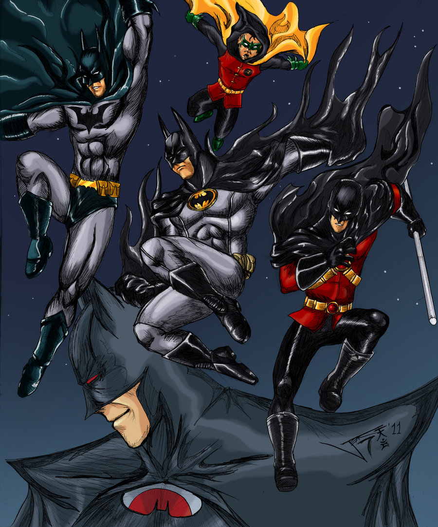 Batman Bat Family Wallpaper Wallpapersafari