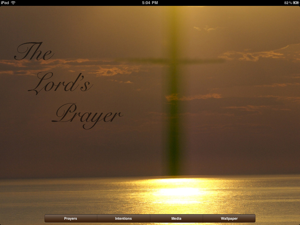 the lords prayer iphone - photo #8