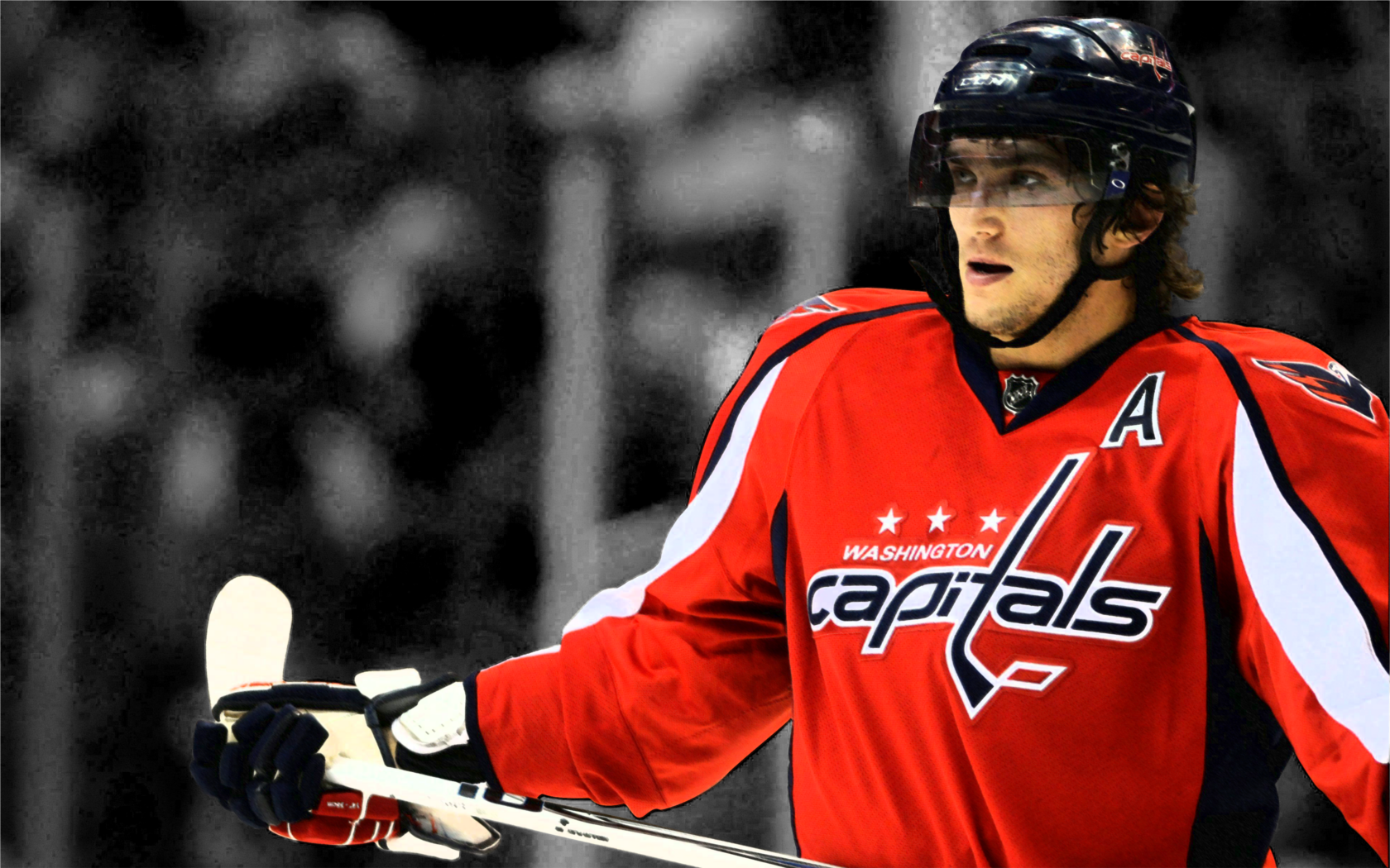 Wallpaper 1680x1050 Hockey NHL Alexander Ovechkin Washington 1680x1050