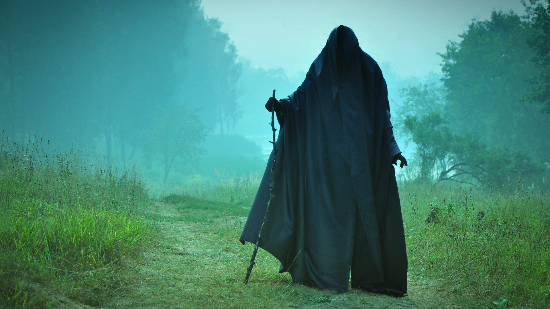 dark horror grim reaper gothic death landscapes mood spirits ghost 1920x1080