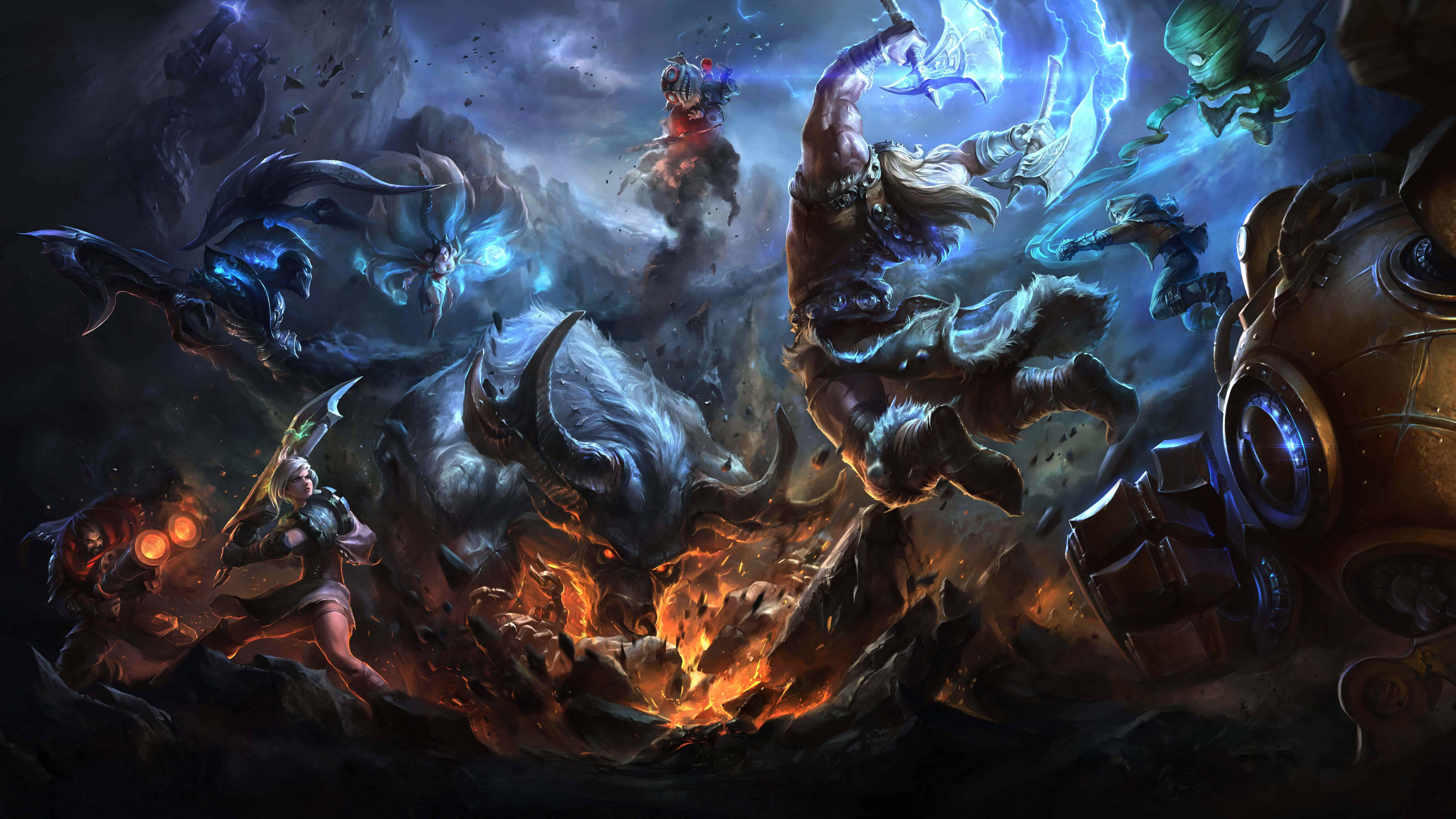 League Of Legends Olaf UHD 8K Wallpaper Pixelz 7680x4320