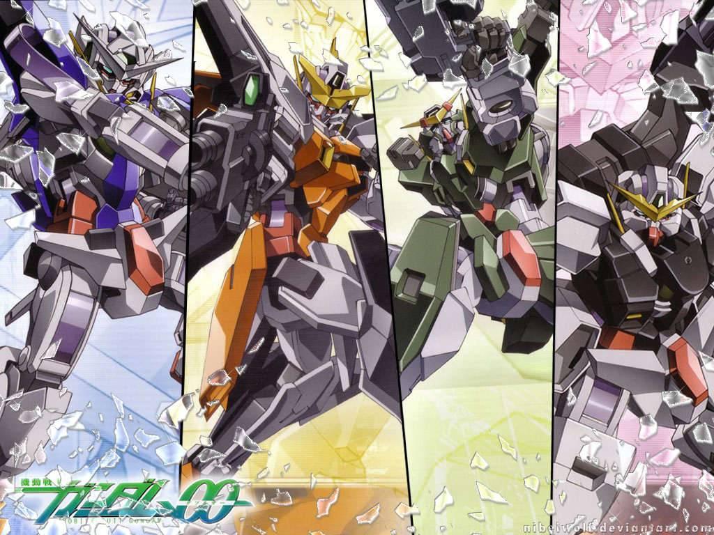 gundams exia kyrios dynames and virtue   Gundam 00 Wallpaper 1024x768
