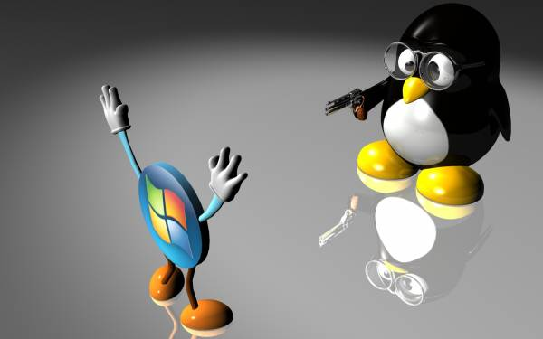 Widescreen Wallpaper Linux vs vista rastakouere funny crime assault 600x375