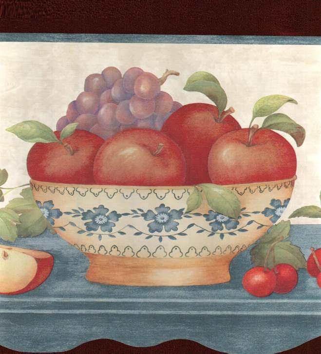 Myrt Primitives Timeless Fruit wallpaper border [gmp 777]   1299 659x725