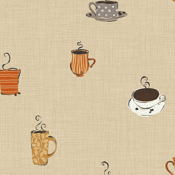 Modern Coffee Themed Kitchen Wallpaper from York 600x600