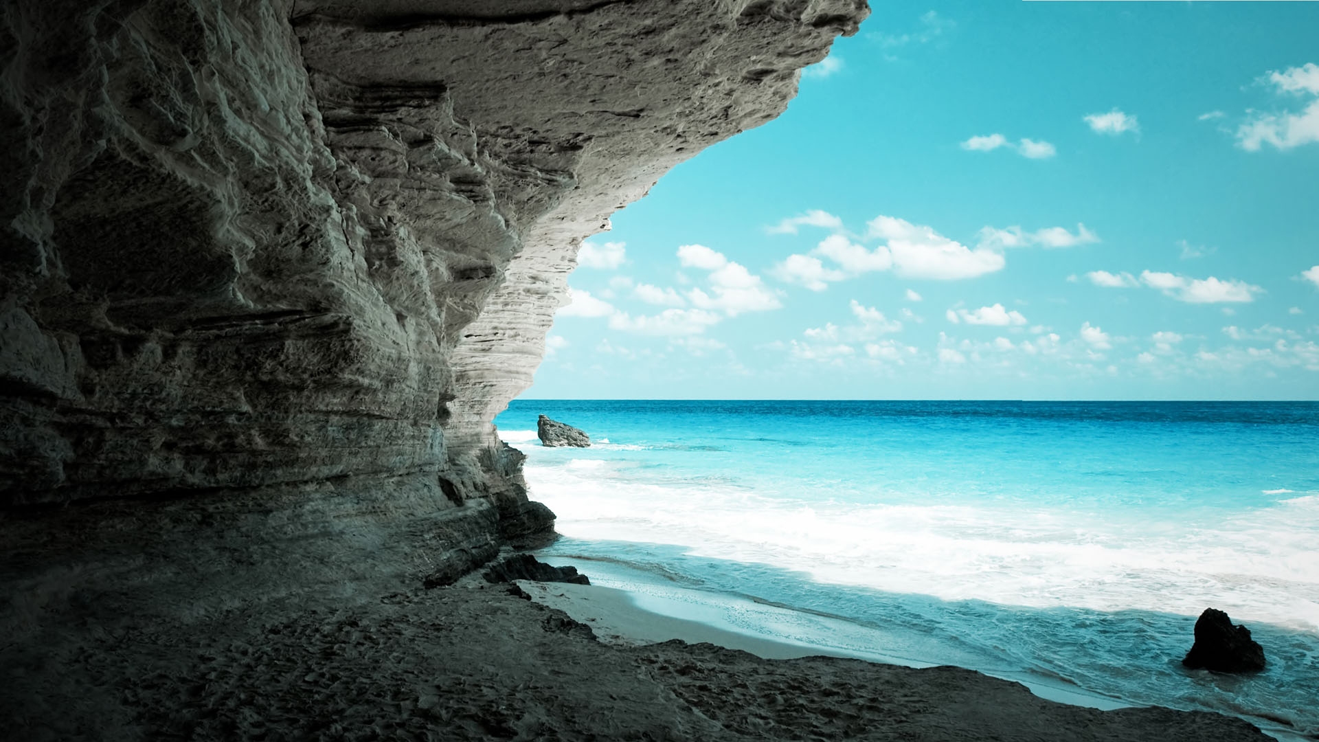 amazing full hd wallpaper cave on the beach wallpaper 1920x1080