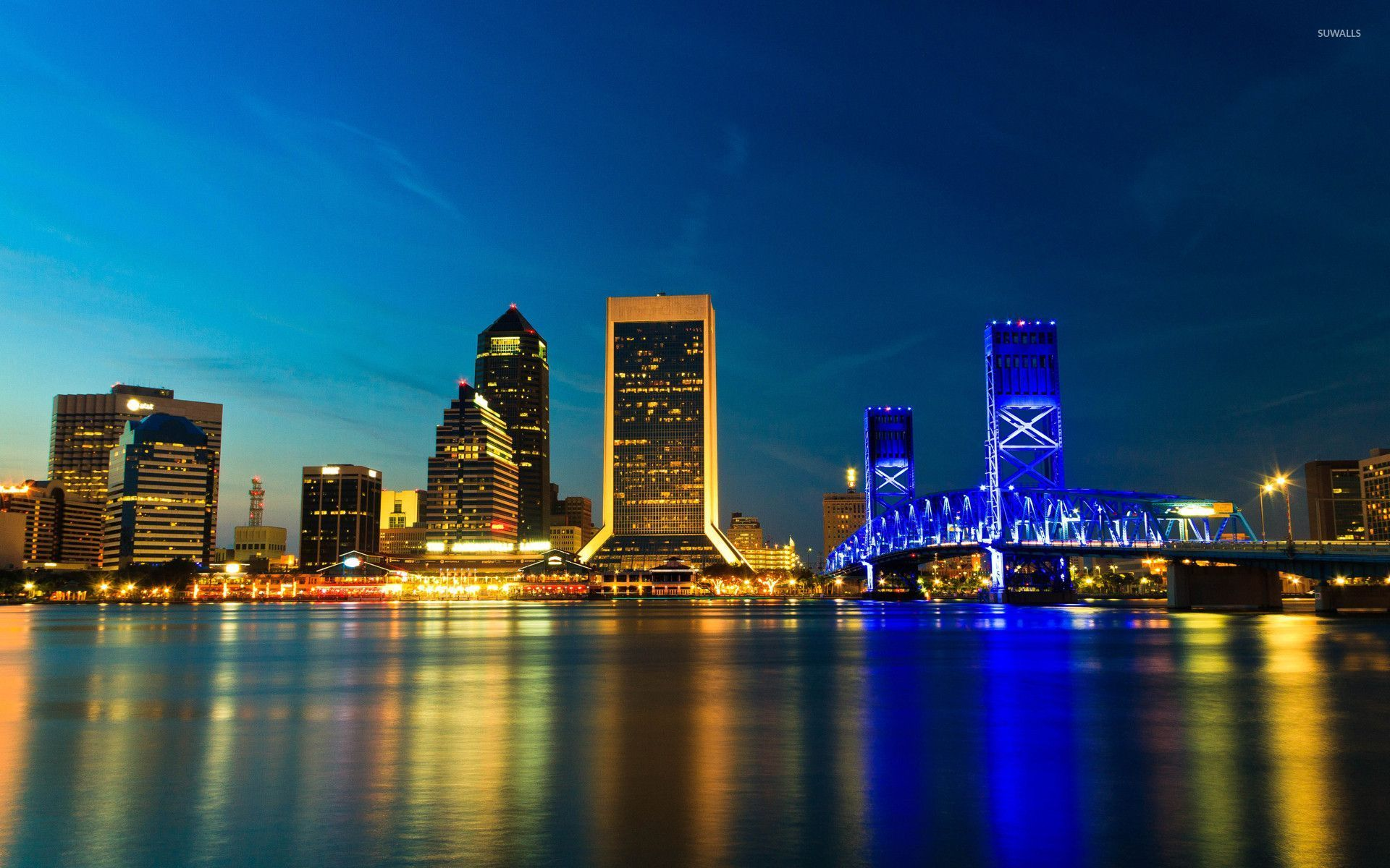 Jacksonville at night wallpaper   World wallpapers   26824 1280x800