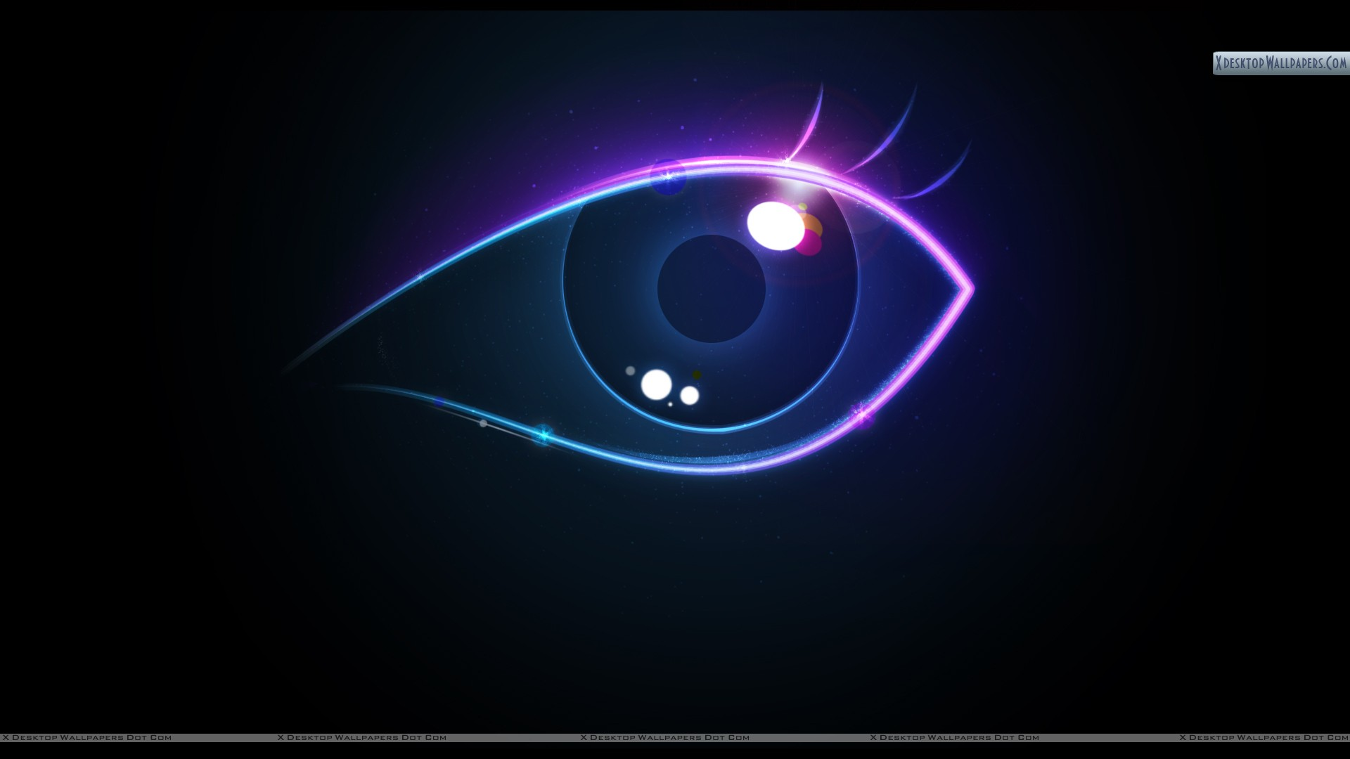 Eye Abstract On Black Background Wallpaper 1920x1080