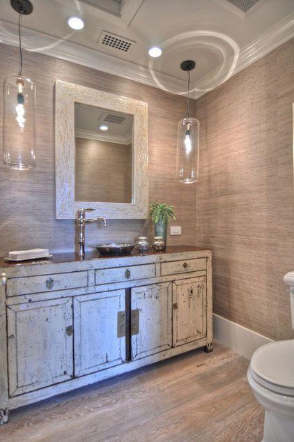 Beach house sea grass wallpaper bathroom Bath Pinterest 422x634