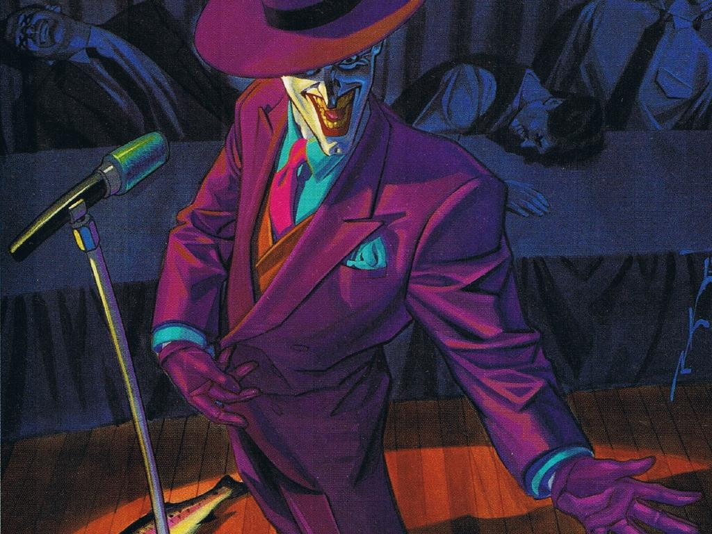 the joker on stage Zoom Comics Daily Comic Book Wallpapers 1024x768