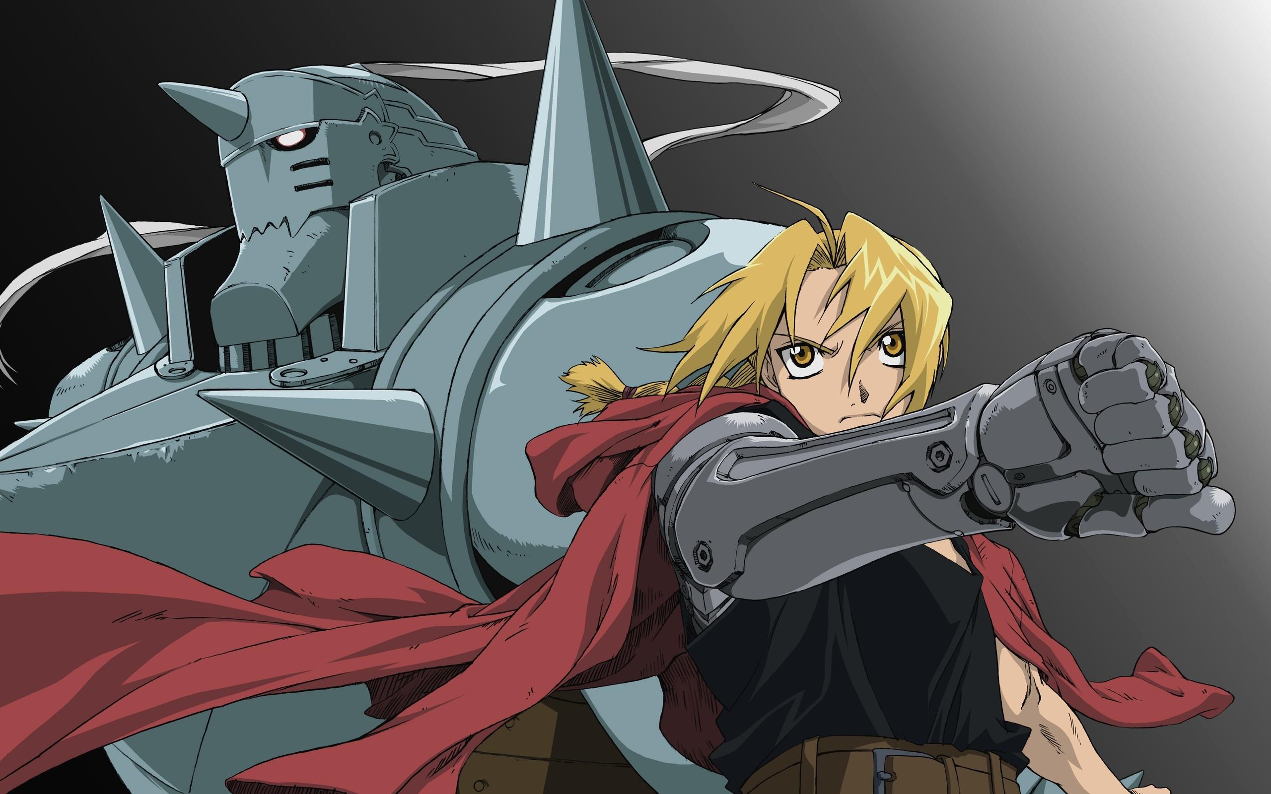 Fullmetal Alchemist blondes Elric Alphonse Elric Edward wallpaper 2560x1600