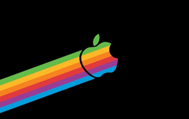 Flying Retro Rainbow Apple Light 620x390
