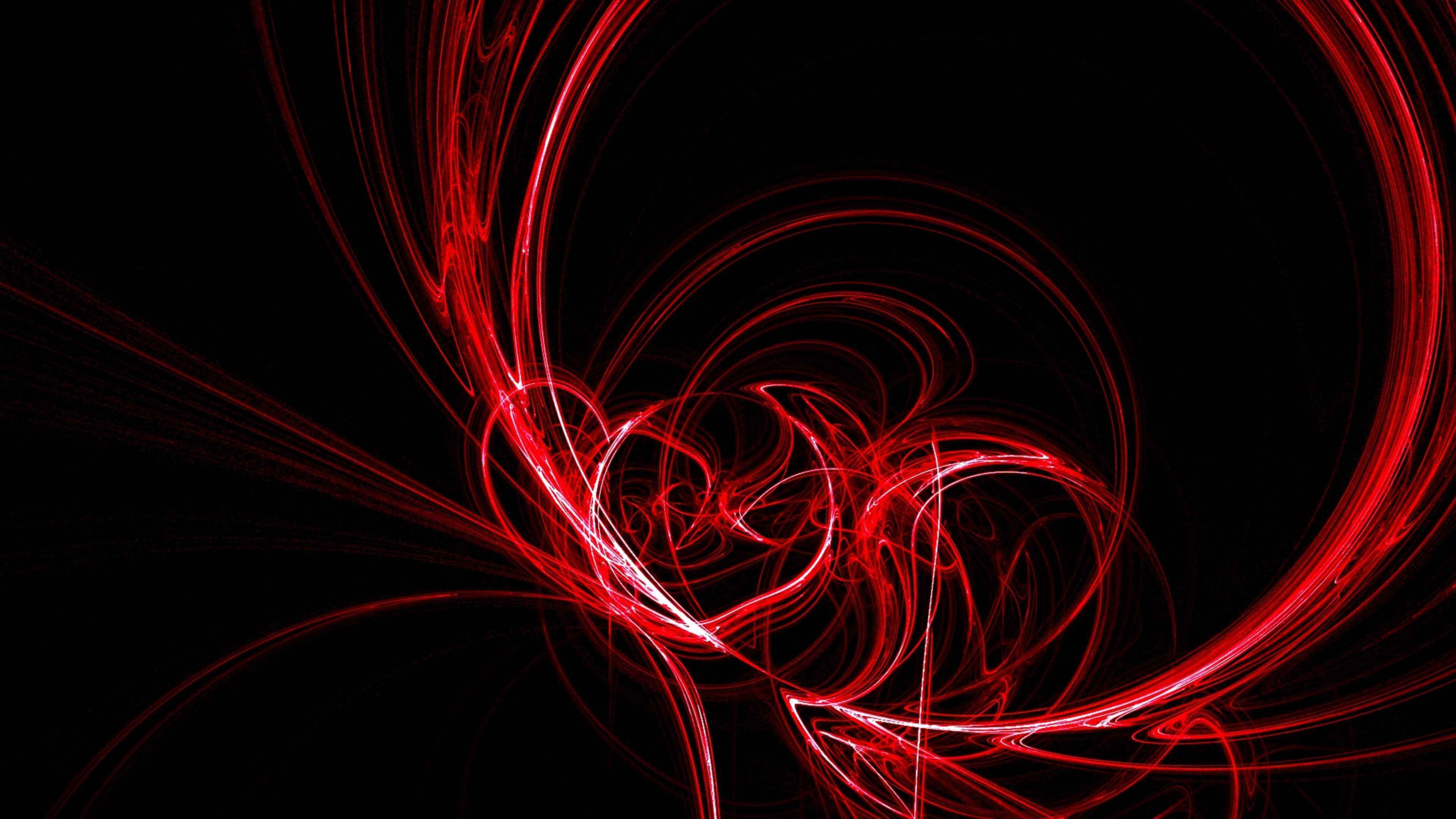 Black and Red Swirl Abstract 4K Wallpapers 4K Wallpaper 3840x2160