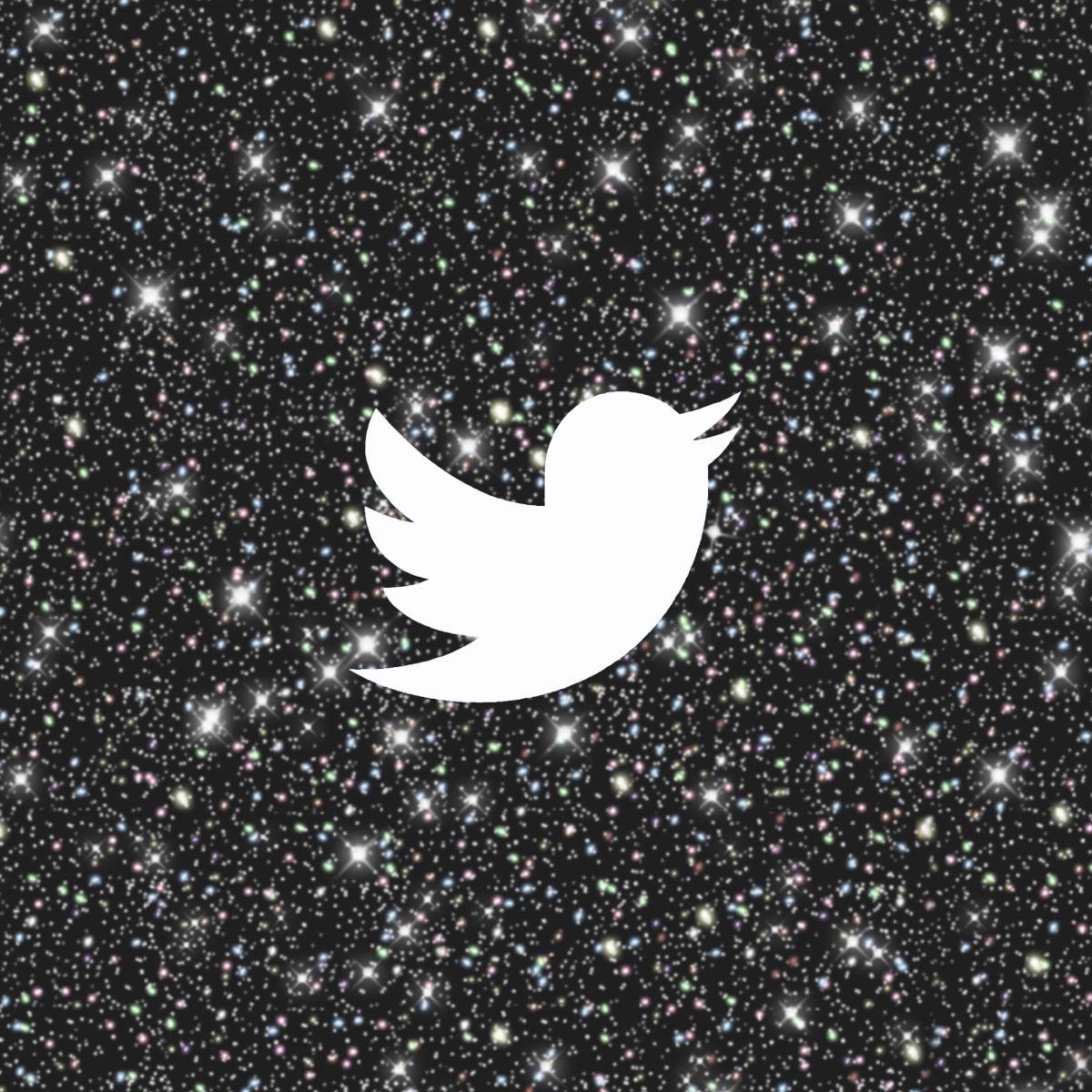 Black Glitter Aesthetic Twitter App Icon Glitter wallpaper App 1200x1200