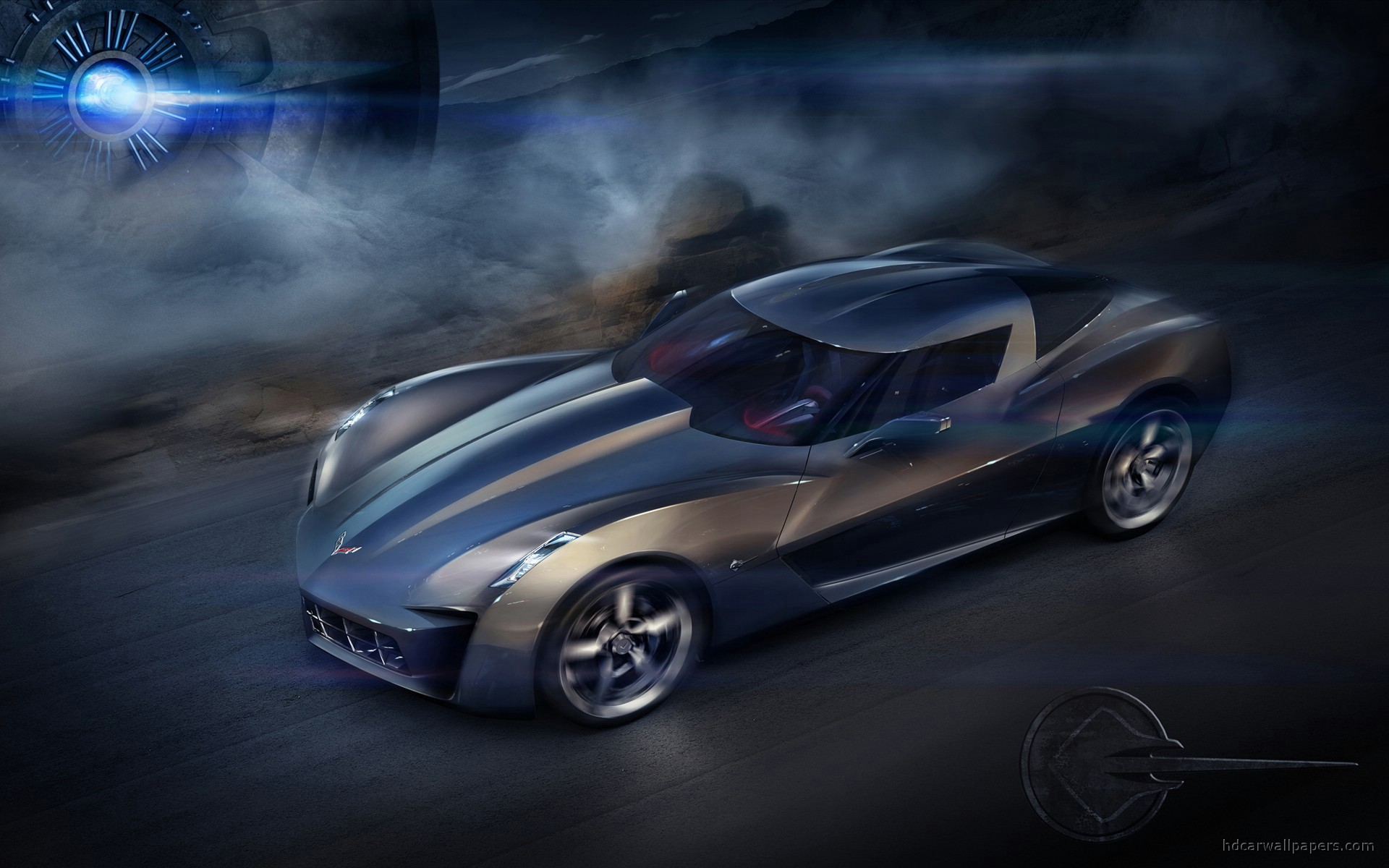 corvette stingray concept wide Corvette HD Desktop Wallpapers 1920x1200