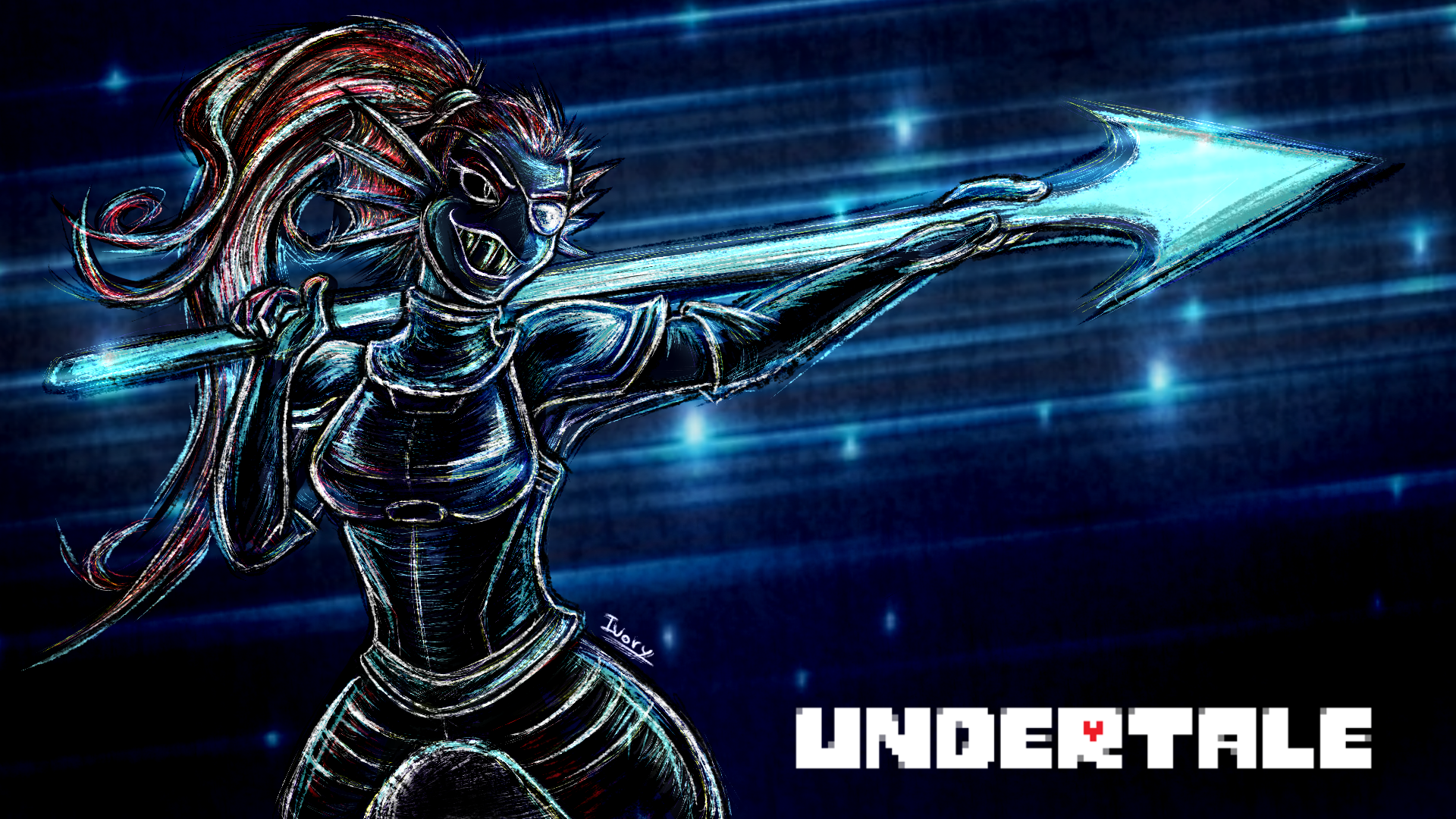 The heroine that NEVER gives up  Undertale by Blakmy 1920x1080