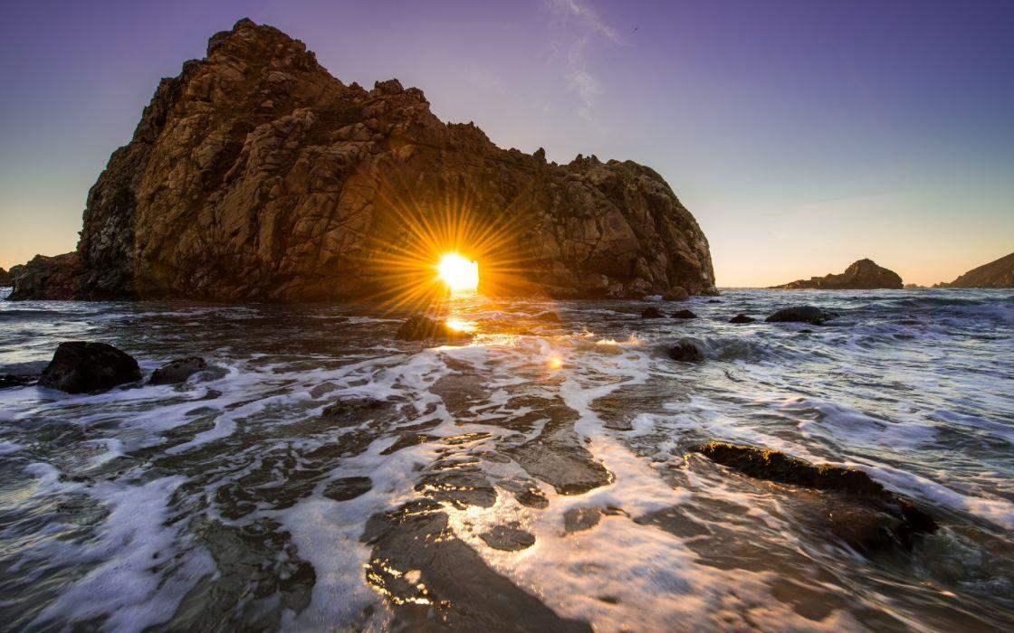 California ocean rock sunset wallpaper 2560x1600 76356 1120x700